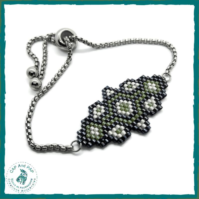 Bracelet en perles tissées - Vert